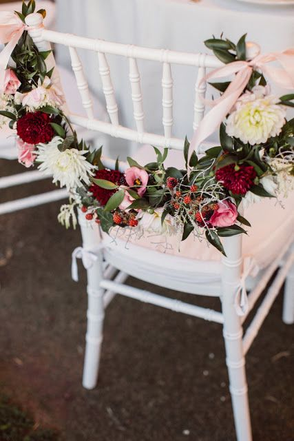 Handmade And Hiness Manuela E Giovanni Il Nostro English Garden Wedding Chairs