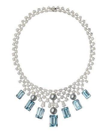 Bijoux cartier : collection haute joaillerie 2009 en aigues-marines - Cartier - Bijoux femme : haute- joaillerie - bijoux luxe - Joyce.fr
