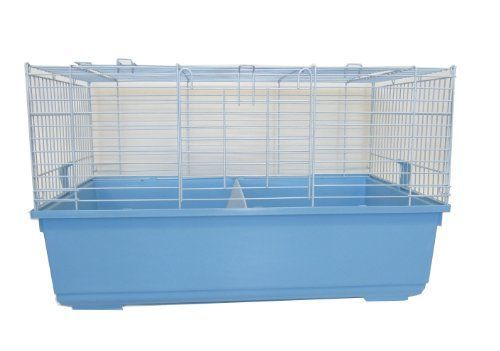 YML SA3220 Indoor Small Animal Cage Rabbit, Blue * Want additional info? Click on the image.