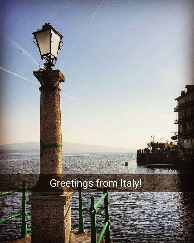From Italy with love   . . . . . . . . .  #lifestyle #arona #lagomaggiore #instareporter #lake #lakemaggiore #italy #travelgram #sundaymorning #sunday #goodtime #photooftheday #igersitalia #quitetime #relaxed #bigtime #lighthouse #greetings #loveit #lovelife