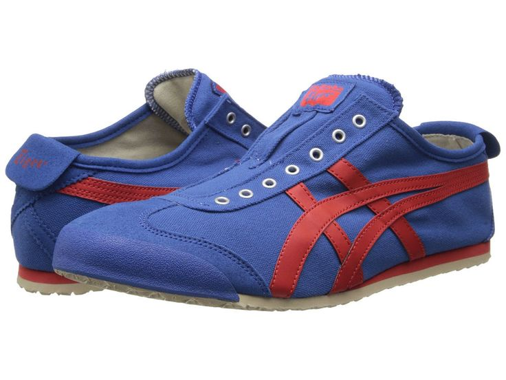 Onitsuka Tiger by Asics Mexico 66 Slip-On 13 M Blue Canvas Sneakers Mens Shoes #OnitsukaTiger #FashionSneakers