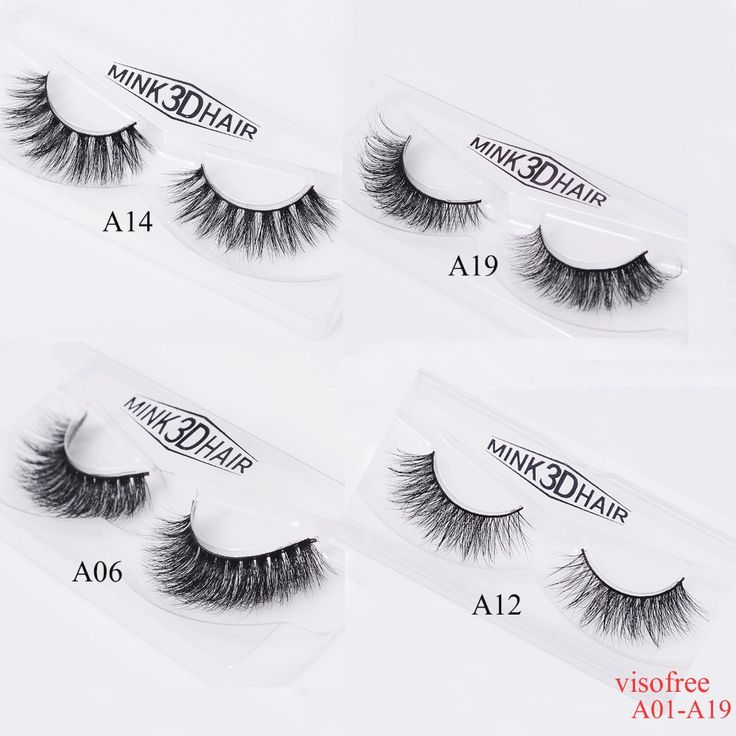 Visofree Eyelashes 3D Mink Eyelashes Crossing Mink Lashes Hand Made Full Strip Eye Lashes A01-A19 (blank box available)