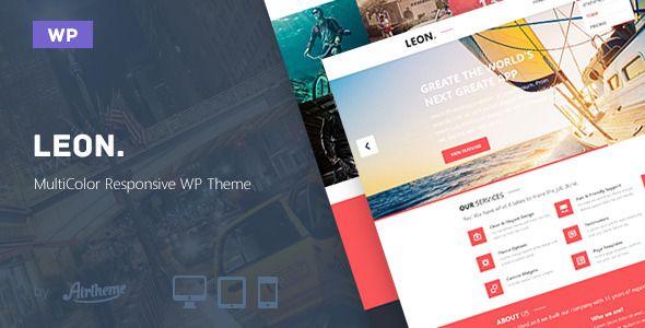 Leon. - MultiColor Responsive HTML5 WP Theme