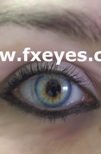 Fxeyes Colored Contact Lenses Natural Handpainted Lenses