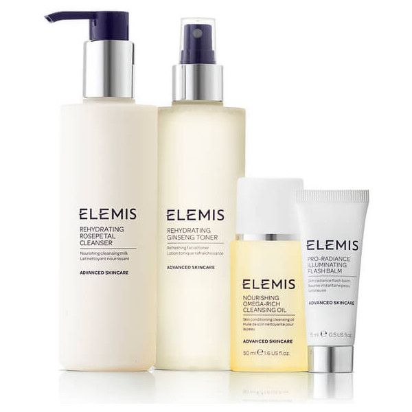 Elemis Kit Rehydrating Cleansing Collection (Worth £62.75) (185 SAR) ❤ liked on Polyvore featuring beauty products, skincare, face care, elemis, sensitive skin care, face toners, toner skin care and elemis skin care