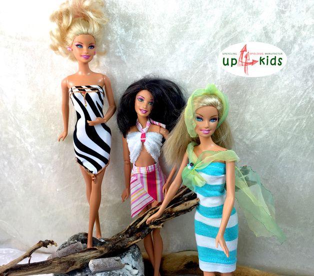 Puppenkleidung - Barbie Kleider-Set 27 5tlg Puppenkleid - ein Designerstück von up4kids bei DaWanda