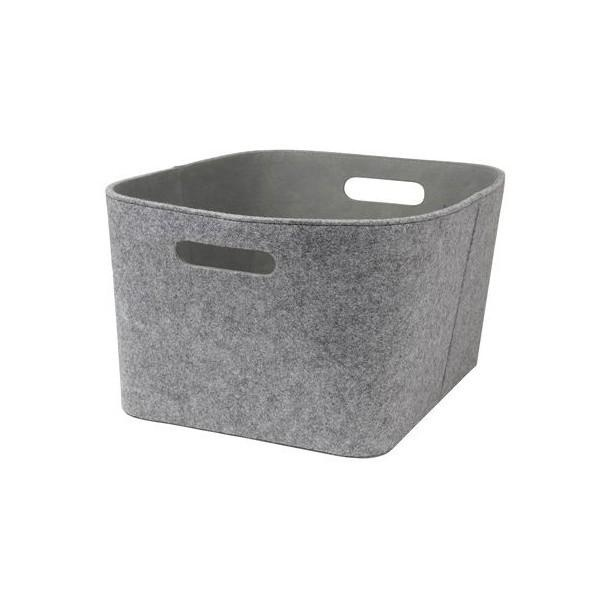 HUBSCH INTERIOR FELT BASKET - GREY - British
