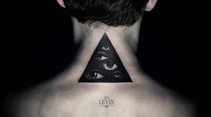 Triangle with Eye. Tattoo by Ien Levine