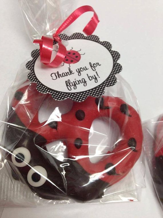 Hey, I found this really awesome Etsy listing at https://www.etsy.com/listing/196784555/ladybug-chocolate-covered-pretzel-favor