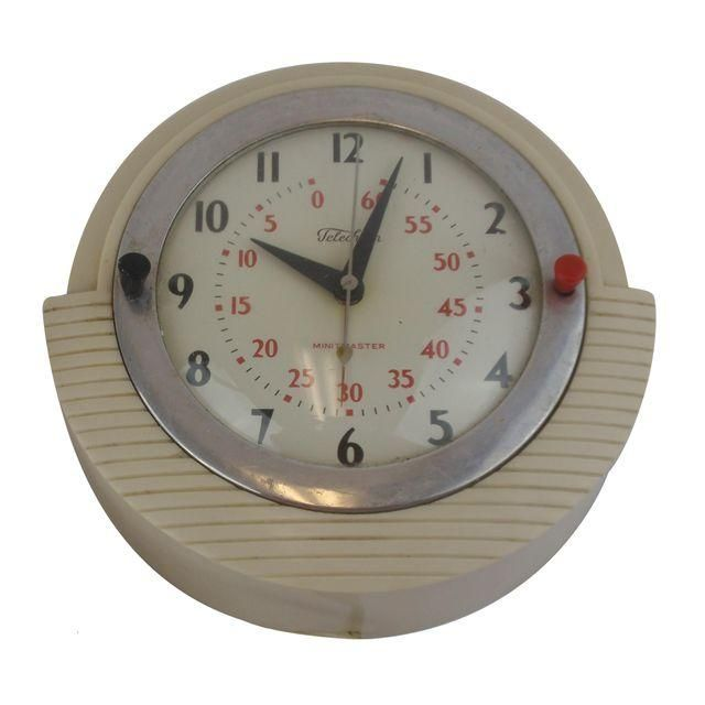 Image of Telechron Minitmaster Kitchen Wall Clock With Timer