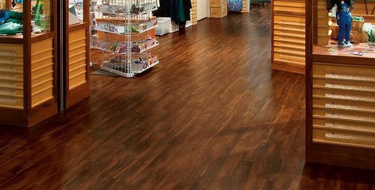 Designers for the Girl Scout Store chose NATURAL CREATIONS ArborArt by Armstrong Flooring for both the lobby and the shop.