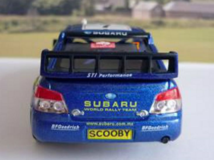 PERSONALISED PLATES Blue Subaru Toy/Model Car