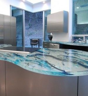 Art Glass Kitchen Countertop