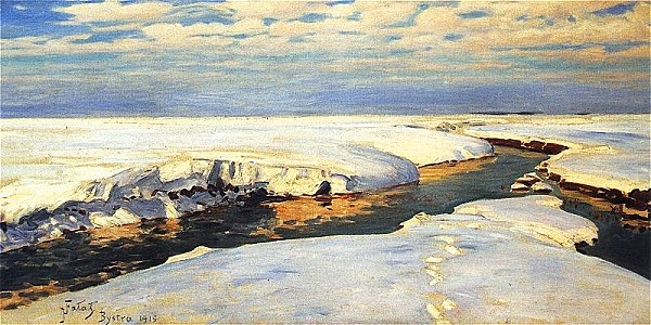 Julian Fałat - Paysage d'hiver (1915), huile sur toile