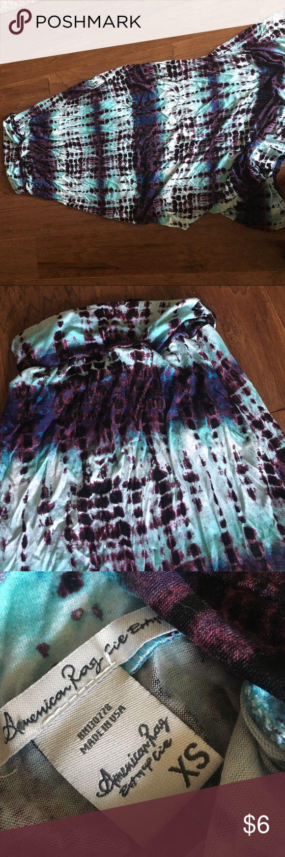 Tie dye maxi skirt size XS Super fun tie dye maxi skirt size XS. Great condition American Rag Skirts Mini