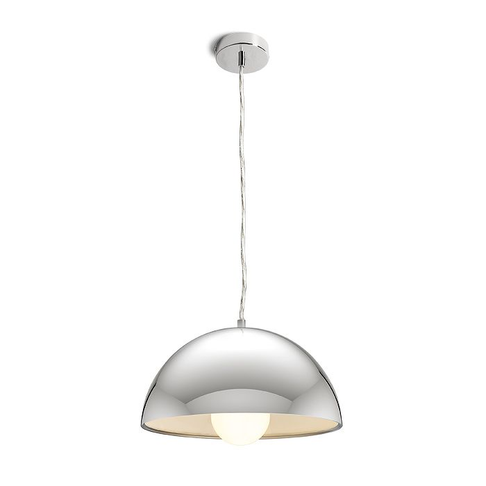 SINTRA   rendl light studio   Pendant with a chromed metal shade, available in two sizes. #lights #pendants #chrome