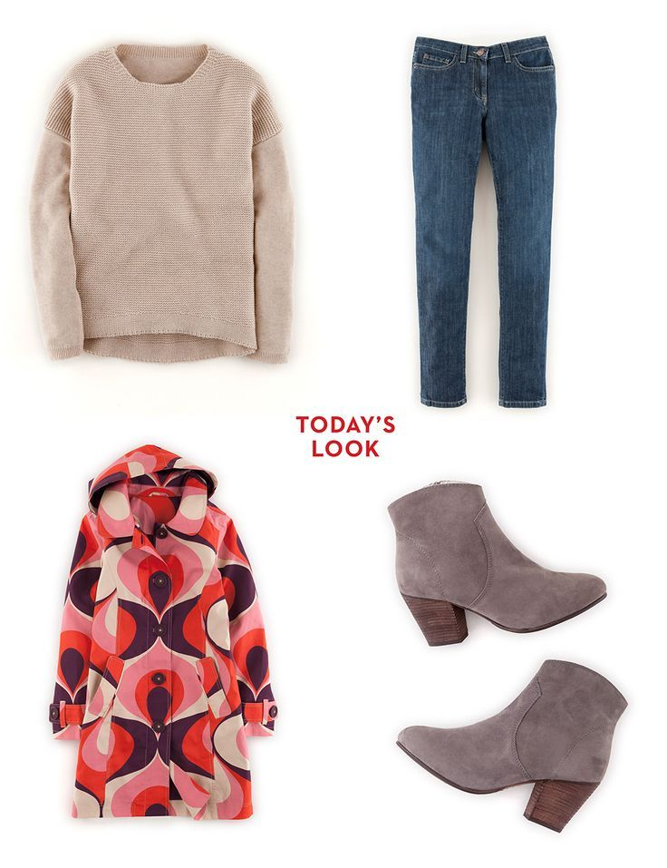 Rainy day style. Shop with 15% off and free delivery with code PIN1 (UK) or PIN2 (US) #Boden #AW14