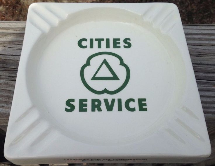 Vintage RARE Large 1960'S Era Arkansas Fuel Oil Corp Cities Service Gas Ashtray