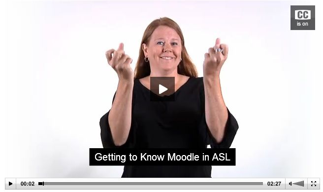 Getting to know Moodle in ASL | In 2011, AlphaPlus, in partnership with the Ottawa Community Coalition for Literacy, produced a series of six short captioned videos in ASL that introduce Moodle to Deaf learners and educators