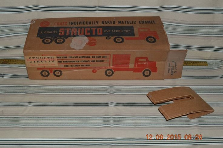 Vintage Structo Cattle Trailer Empty Truck Box. #Structo