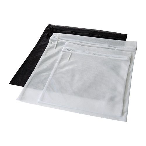 $3.99 IKEA - PRESSA, Washing bag, set of 3, If you put your delicate clothes in PRESSA wash bag, they will be protected in the washing machine.The hanging hook makes it easy to dry and store the wash bag.