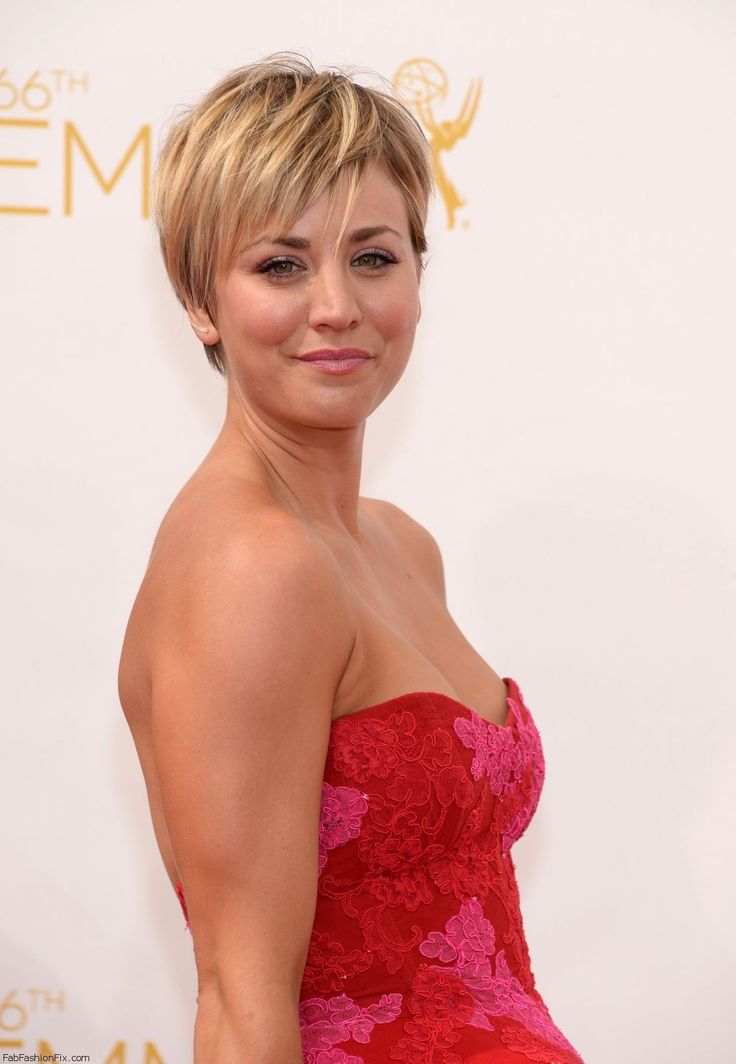 Kaley Couco at 2014 Emmy Awards.