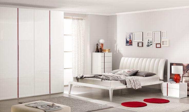 Интерьер белой глянцевой спальни | Дизайн интерьера современной спальни  #астрон #мебель #astron #спальни