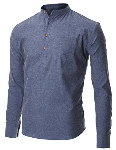 1000 ideas about mandarin collar on pinterest silk for Mens collared henley shirt