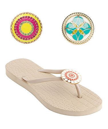This Stone Jordi Flip-Flop & Riva & Jaimie Snap Set by Lindsay Phillips is perfect! #zulilyfinds