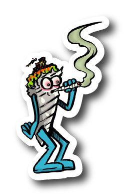 Jontie Smoking Dubey Sticker | Vinyl Stickers | Marijuana Stickers | Clear Stickers