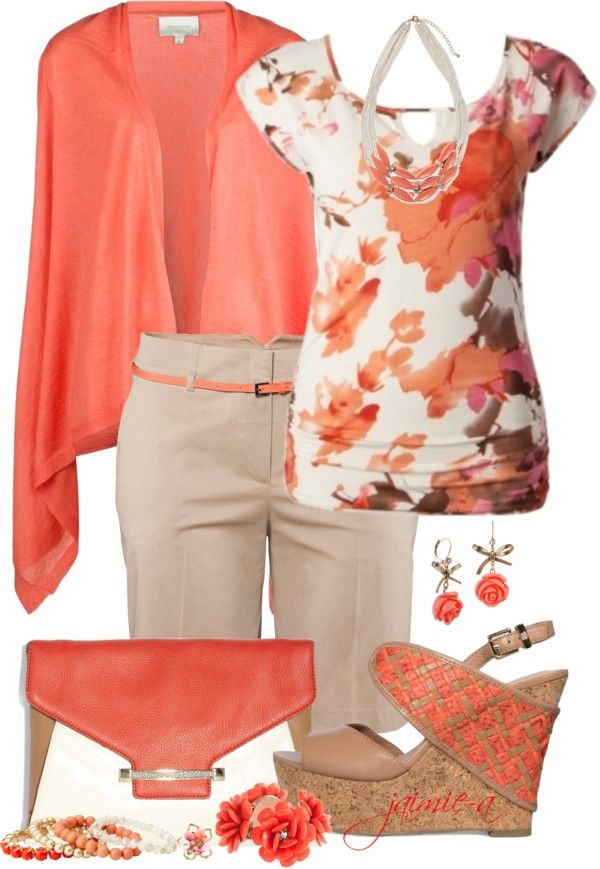 """Dressy Night Out In Bermuda Shorts"" by jaimie-a ❤ liked on Polyvore"