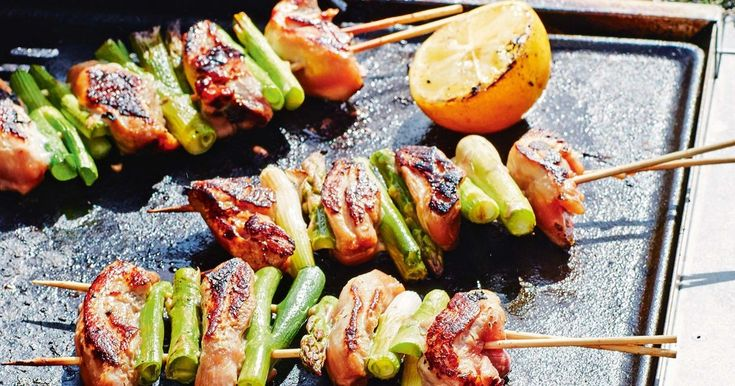 Enhance the flavours of these sticky teriyaki chicken and asparagus skewers with a fresh squeeze of lemon.