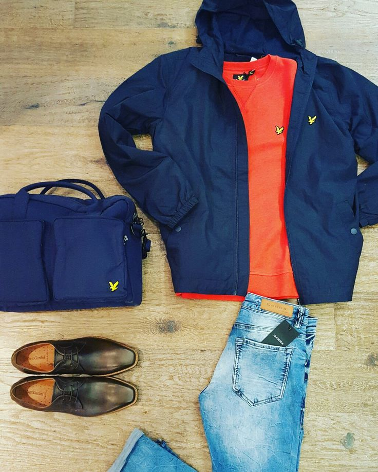 New arrivals #lyleenscott technical windjack Orange sweat en blue bag. Super skinny jeans #Gabba New model. Veter shoes #nerogiardini #madeinitaly www.partnermode.nl