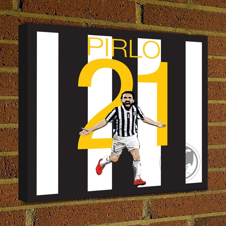 Square Canvas Wrap Soccer Art Print Andrea Pirlo Juventus Soccer Poster wall decor home decor, Pirlo print, Juventus poster by Graphics17 on Etsy