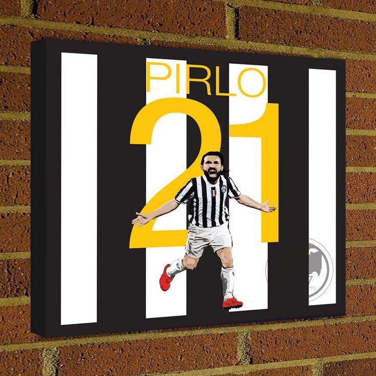 Square Canvas Wrap Soccer Art Print Andrea Pirlo Juventus Soccer Poster wall decor home decor, Pirlo print, Juventus poster by Graphics17 on Etsy