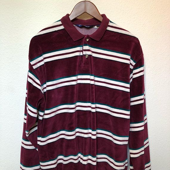 Retro Velour Striped Shirt