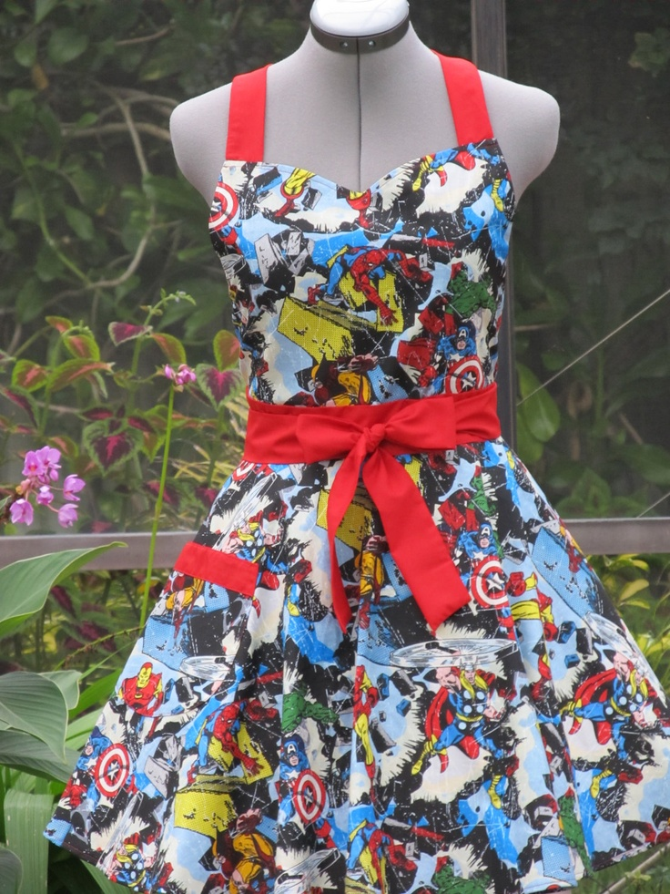 Marvel Comic Apron. Super cool. I would love this apron, but there's no way I'm spending forty bucks on an apron.