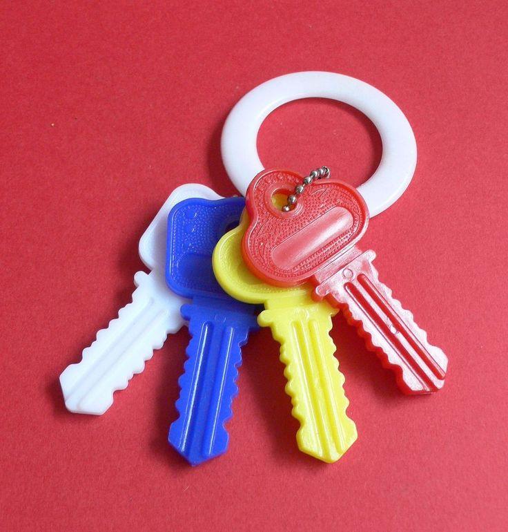 #Vintage baby rattle keys. #70s #80s #childhoodmemories #nostalgia