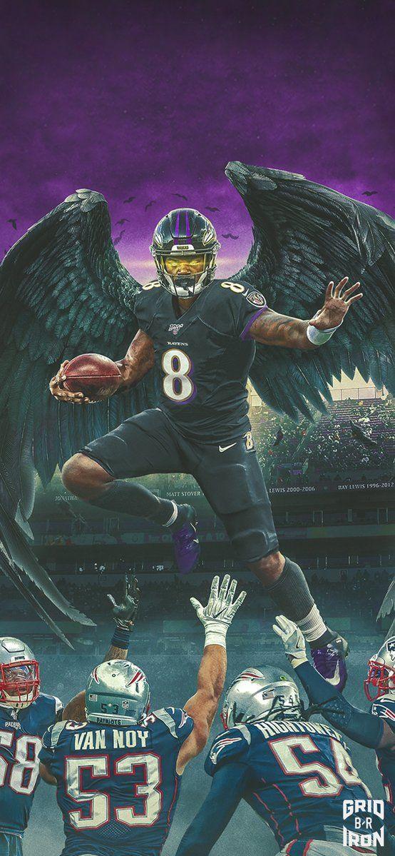 New Ravens Lock Screen Pic 😈 Lamar jackson wallpaper