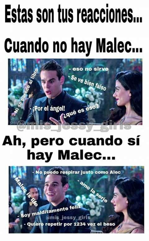Memes de Cazadores de Sombras 3 - Malec - Wattpad