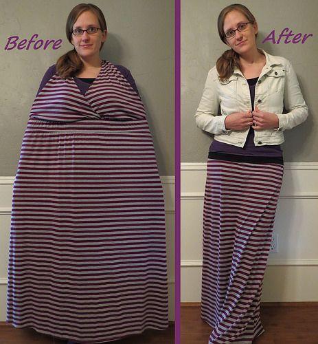 Striped Maxi Skirt Refashion by CarissaKnits