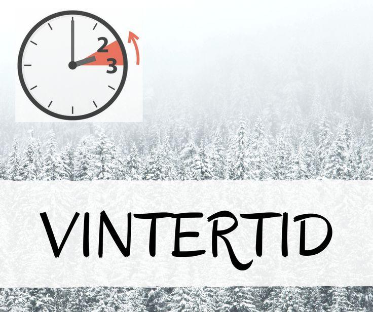 I nat starter vintertiden. Uret sættes én time tilbage, så kl. 03:00 bliver til kl. 02:00. En time ekstra = du kan sove én time længere!