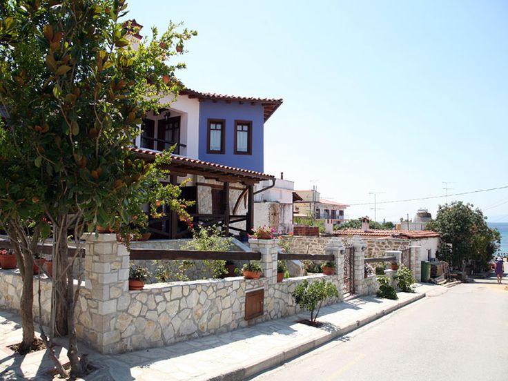 Traditional houses at Ouranoupoli #Halkidiki #Greece #Travel #gohalkidiki