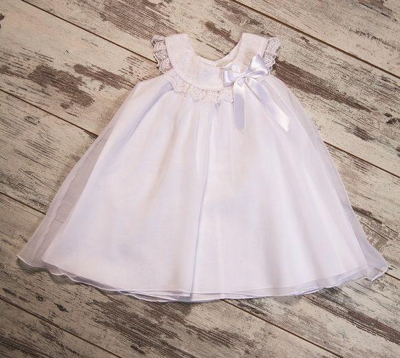 White & Chic ! #girldress #baptism #christening