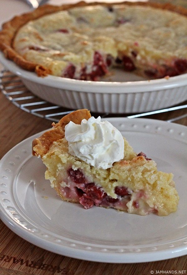Jam Hands: Tart Cherry Sour Cream Pie: I am going to try this with blueberries!