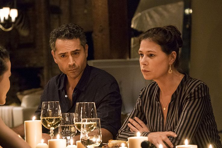 Maura Tierney and Omar Metwally in The Affair Season 3