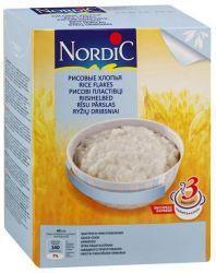 Нордик каша рисовые хлопья 800г  — 322р. ----------------------- Хлопья для каш   Хлопья для каш «Nordic» — вкусный продукт для всей семьи!  Уникальная технология производства хлопьев позволяет сохранить полезные свойства цельного зерна и гарантирует изумительный вкус приготовленных блюд  Хлопья для каш «Nordic» не содержат консервантов, ароматизаторов и красителей  Здоровое питание — залог хорошего самочувствия, бодрости и долголетия     Состав: рисовые хлопья.     Пищевая…