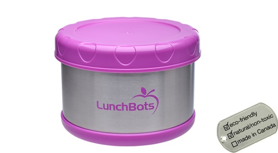 Insulated Thermal Lunch Container - lunchbots pink stubbie