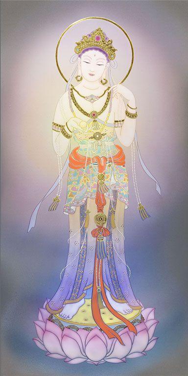 宝珠観音 - 現代美術絵画・草場一壽 陶彩画の世界