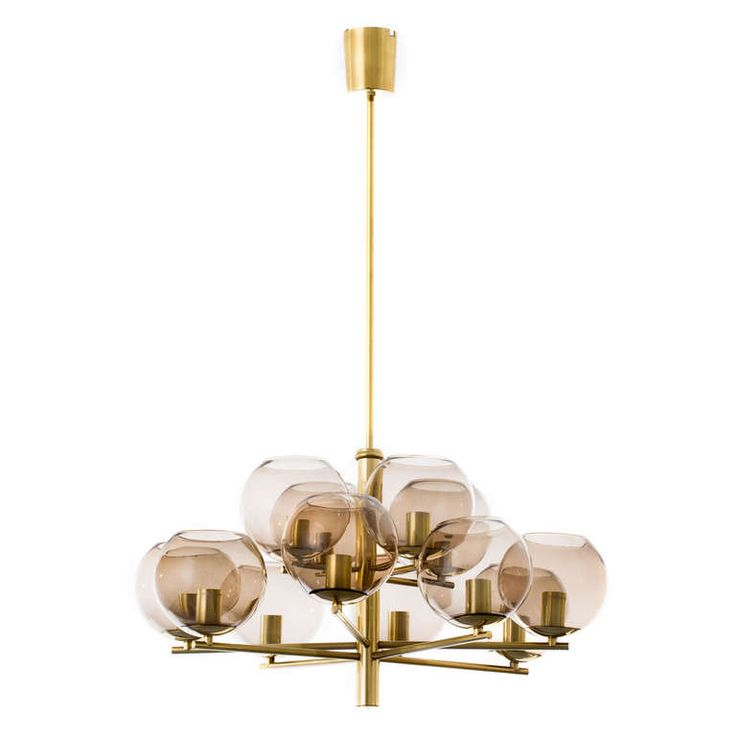 68 best lighting chandelier images on pinterest chandeliers brass smoke glass globe chandelier mozeypictures Gallery
